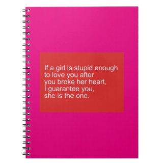 GUARANTEED SHE'S THE ONE QUOTES ADVICE RELATIONSHI NOTEBOOKS