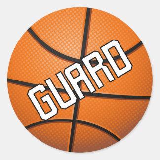 Guard Basketball Classic Round Sticker