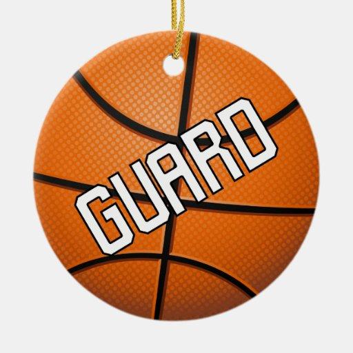 Guard Basketball Christmas Ornament