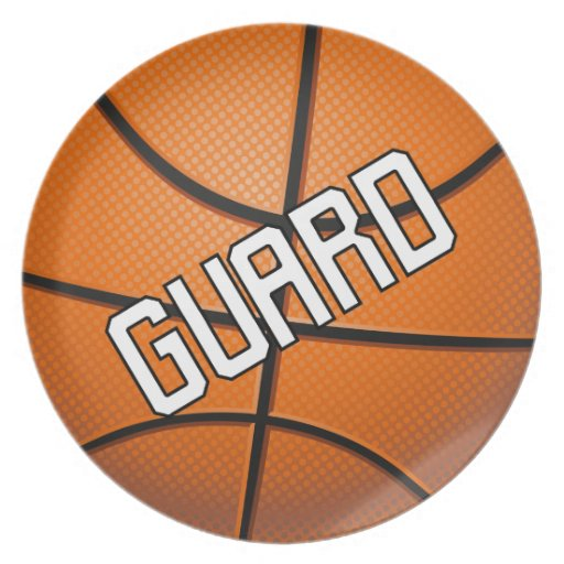 Guard Basketball Dinner Plates