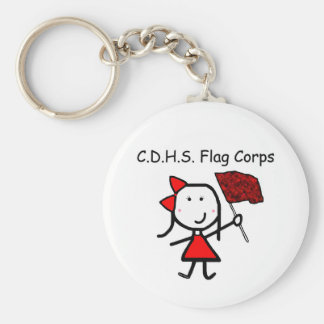 Guard - C.D.H.S. Flag Corps Basic Round Button Keychain