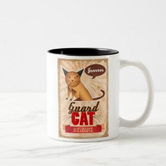 Guard Cat Two-Tone Coffee Mug
