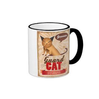 Guard Cat Ringer Coffee Mug
