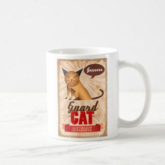 Guard Cat Classic White Coffee Mug