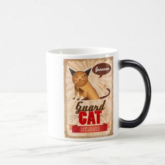 Guard Cat 11 Oz Magic Heat Color-Changing Coffee Mug