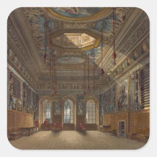 Guard Chamber, castillo de rey de Windsor, de Pegatina Cuadrada