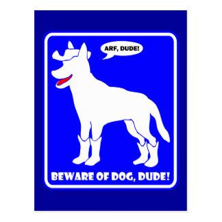 GUARD DOG-13 POSTCARD