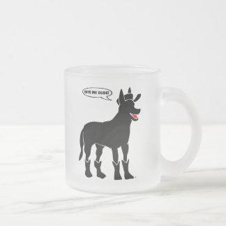 GUARD DOG-25 10 OZ FROSTED GLASS COFFEE MUG
