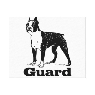 Guard Dog Boston Terrier Canvas Print