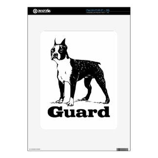 Guard Dog Boston Terrier iPad Skin
