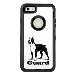 Guard Dog Boston Terrier OtterBox Defender iPhone Case