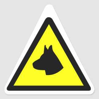 Guard Dog Symbol Triangle Sticker