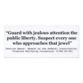 Guard with Jealous Attention the Public LIBERTY Card
