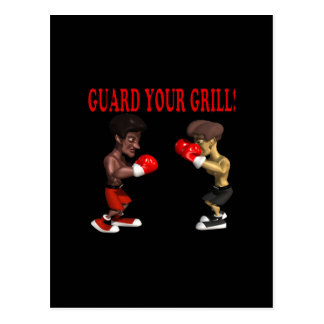 Guard Your Grill Postcard