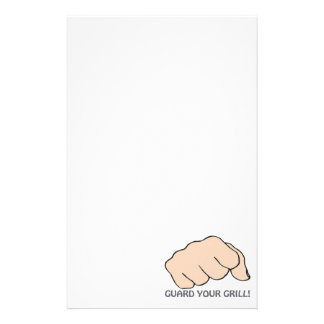 Guard Your Grill Stationery Paper