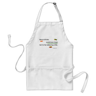 guard your heart adult apron