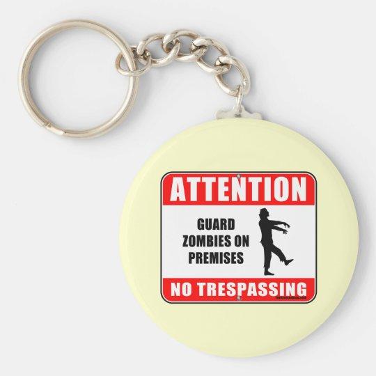 Guard Zombies Keychain