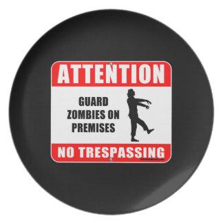 Guard Zombies Melamine Plate