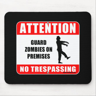 Guard Zombies Mouse Pad