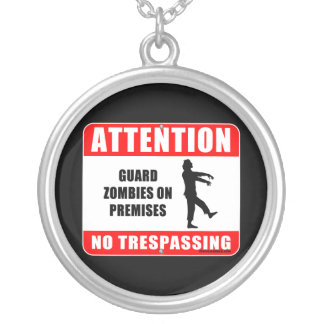 Guard Zombies Round Pendant Necklace