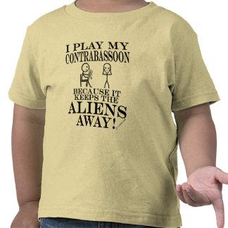 Guarda a los extranjeros Contrabassoon ausente Camisetas