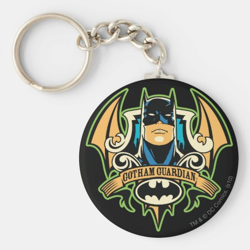 Guarda de Gotham Llavero Redondo Tipo Pin