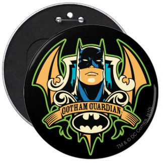 Guarda de Gotham Pin Redondo De 6 Pulgadas