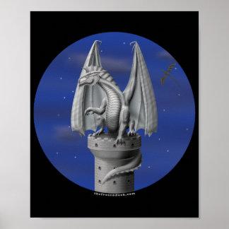 Guarda de la torre - dragón de plata impresiones