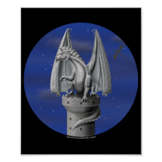 Guarda de la torre - dragón de plata póster