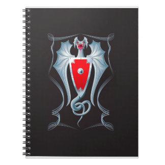 Guarda de plata del escudo del dragón libro de apuntes