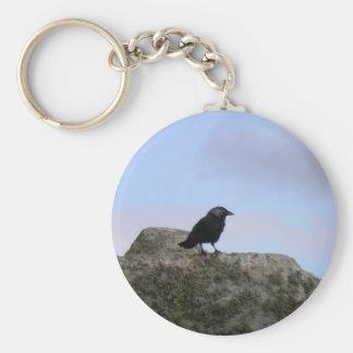 Guarda del cuervo de Henge de piedra Llavero Redondo Tipo Pin