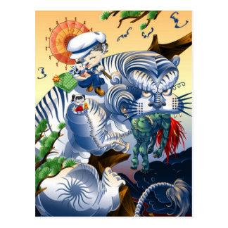 Guarda del oeste - tigre postal