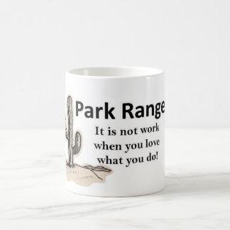 Guarda del parque tazas de café