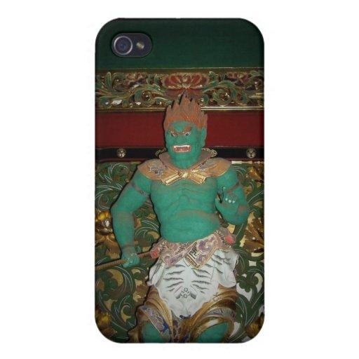 Guarda del templo de Nikko iPhone 4 Funda