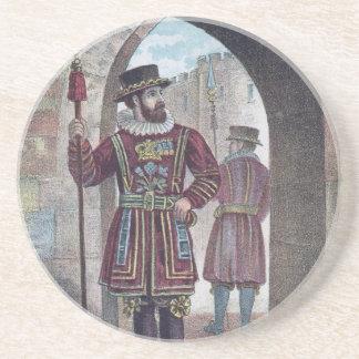 Guarda del terrateniente en la torre de Londres Posavasos Cerveza