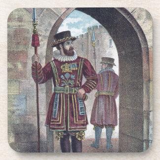 Guarda del terrateniente en la torre de Londres Posavasos