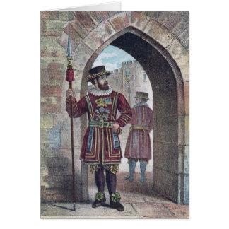 Guarda del terrateniente en la torre de Londres Tarjeta De Felicitación