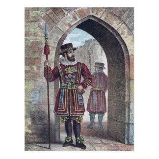 Guarda del terrateniente en la torre de Londres Tarjetas Postales