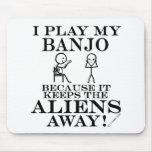 Guarda el banjo ausente de los extranjeros tapetes de raton