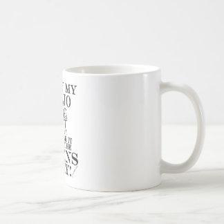 Guarda el banjo ausente de los extranjeros taza de café
