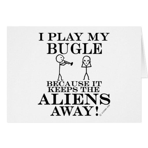 Guarda el bugle ausente de los extranjeros tarjeta de felicitación