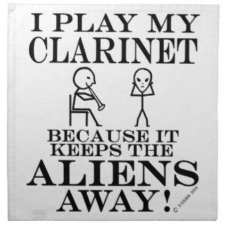 Guarda el Clarinet ausente de los extranjeros Servilleta De Papel