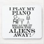 Guarda el piano ausente de los extranjeros tapetes de ratones