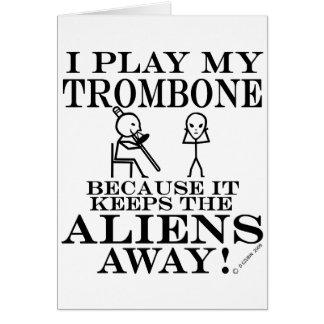 Guarda el Trombone ausente de los extranjeros Tarjeta De Felicitación