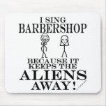 Guarda la barbería ausente de los extranjeros tapetes de ratones