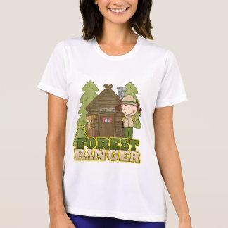 Guardabosques del bosque - chica trigueno camisetas