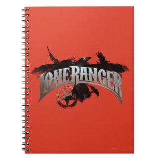 Guardabosques solitario - cuervos e insignia 2 spiral notebooks