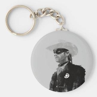 Guardabosques solitario Juan Reid - blanco y negro Llavero Redondo Tipo Pin