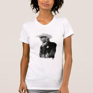 Guardabosques solitario Juan Reid - blanco y negro Camisetas
