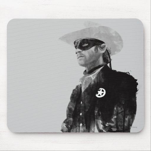 Guardabosques solitario Juan Reid - blanco y negro Mousepads